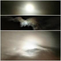Quinta, 23h30 - Lua cheia sobre São Paulo.