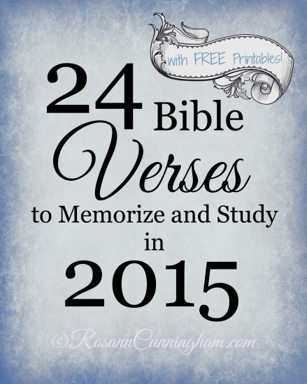 24 Bible Verses to Memorize and Study in 2015