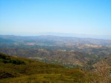 view of the valley at the end of the hike