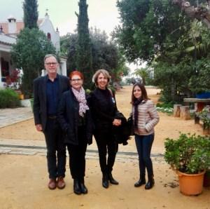 Annette og Sven ved en Oliven mølle i Sevilla