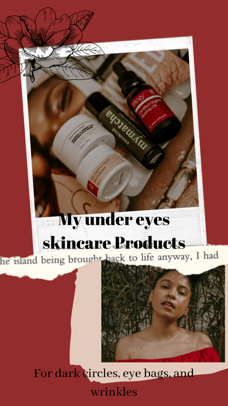 My under eyes skincare Products (1)