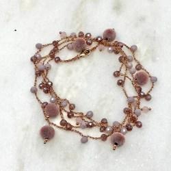 Collana multiuso Rosa Rosa Bijoux