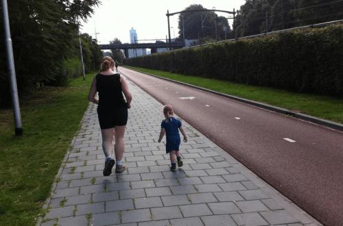 Moeder loopt hard met dochter