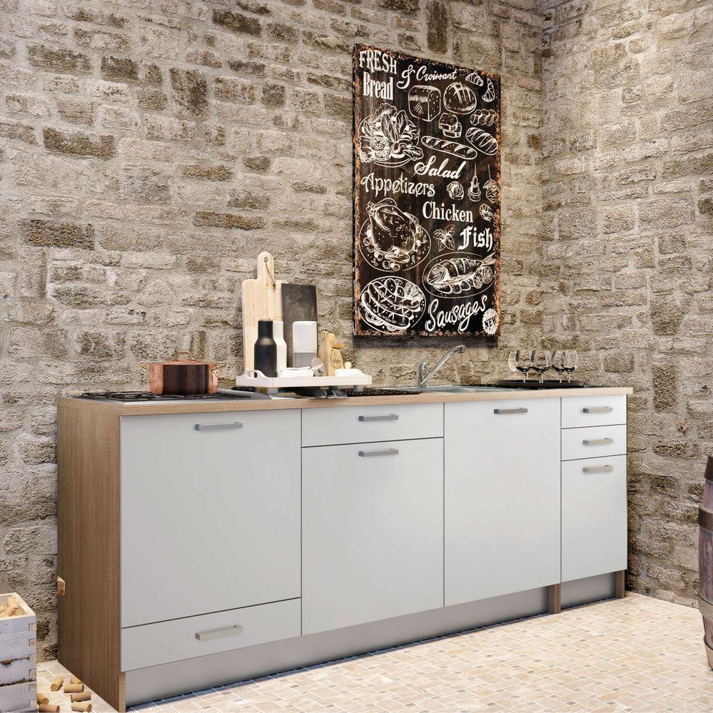 rivestimento parete cucina stile industriale