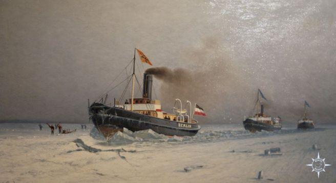 Gemälde mit deutschen Eisbrechern