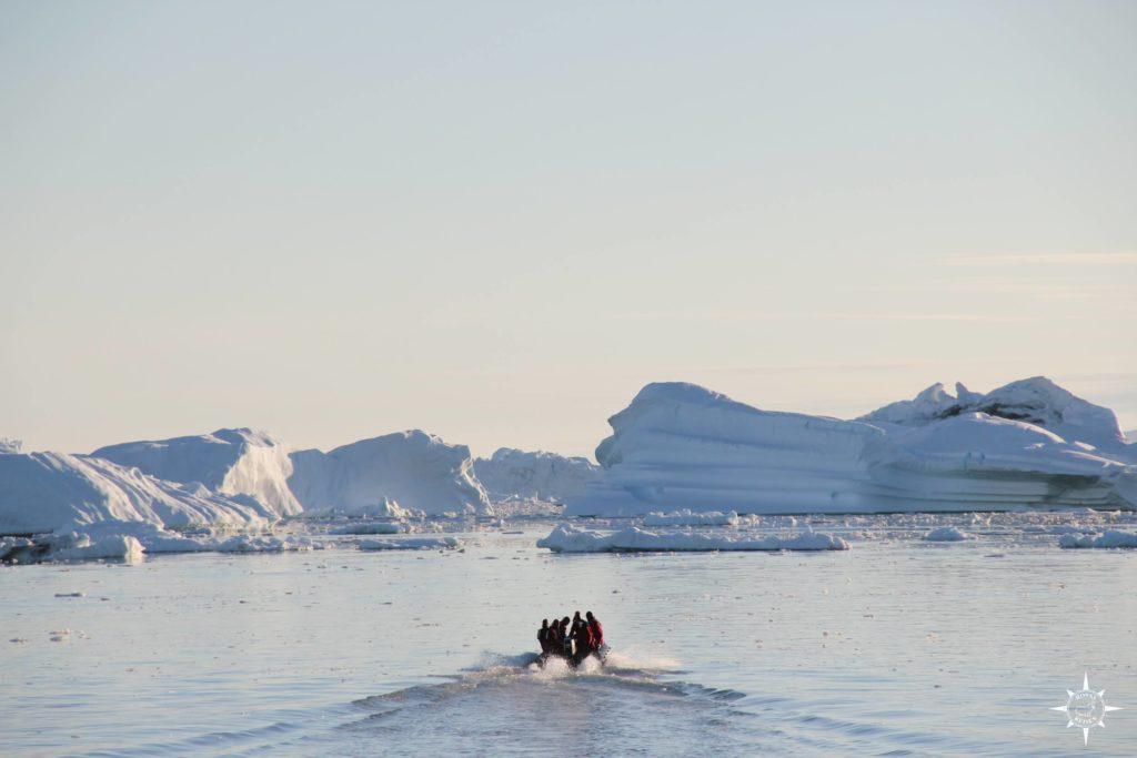 Groenland-Diskobucht-Eisberge