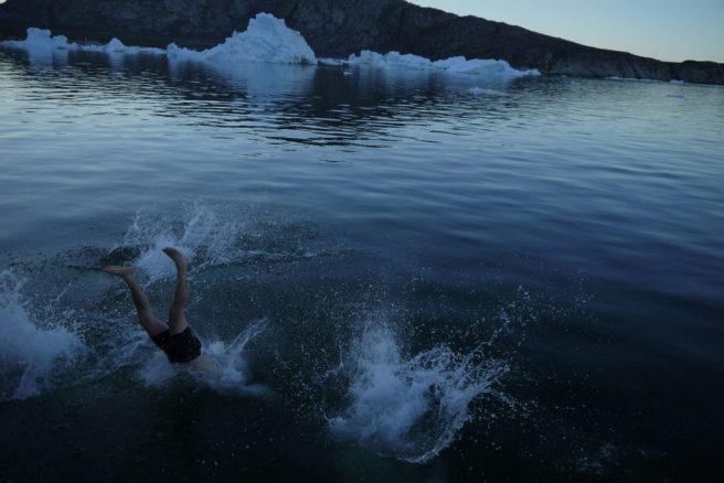 Bad im Polarmeer, Disko-Bucht