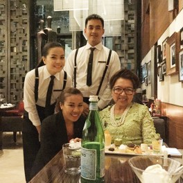 with lovely restaurant staff