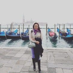 With Gondolas at San Marco Square