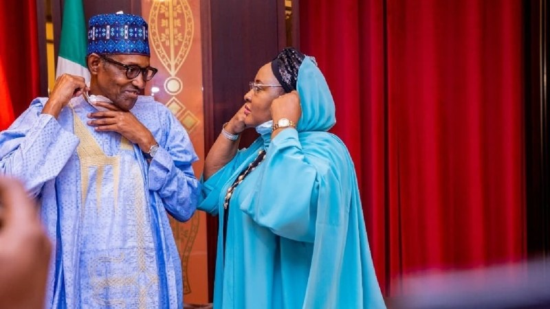 Check out these lovely photos of President Buhari and his wife Aisha