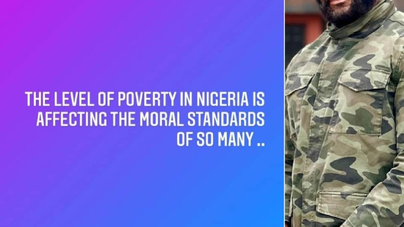 Poverty in Nigeria is affecting the moral standards of so many – Actor Prince Eke writes