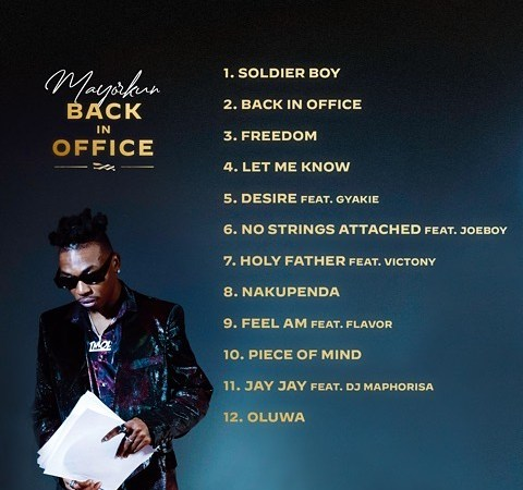 """Mayorkun shares the tracklist for his forthcoming sophomore album """"Back In Office"""""""