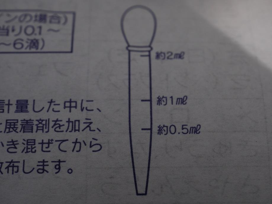 サプロール乳剤の説明書の写真。