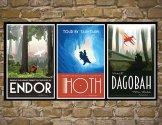Endor, Hoth et Dagoba (Star Wars)