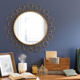 Miroir rond Flower Cavendish