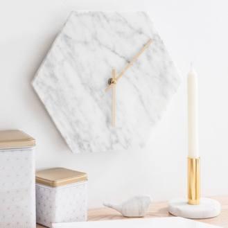 Bougeoir en pierre et métal MARBLE, 9,99€