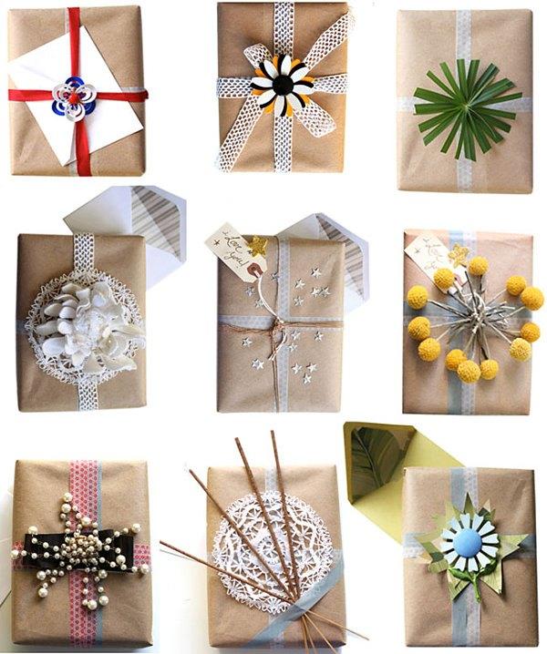 idees-creatives-emballage-cadeau-papier-kraft