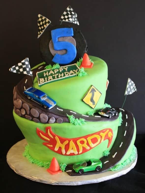 Wonky Hot Wheels Birthday Cake