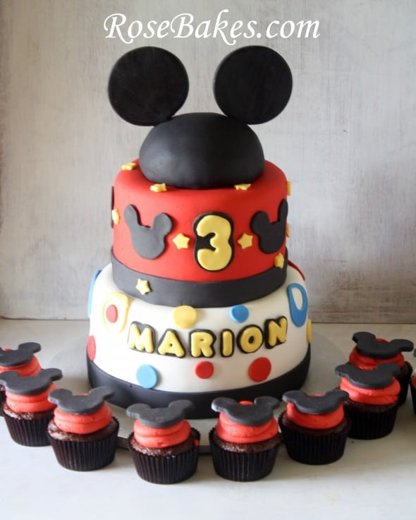 Mickey Mouse Cake Ideas Rose Bakes