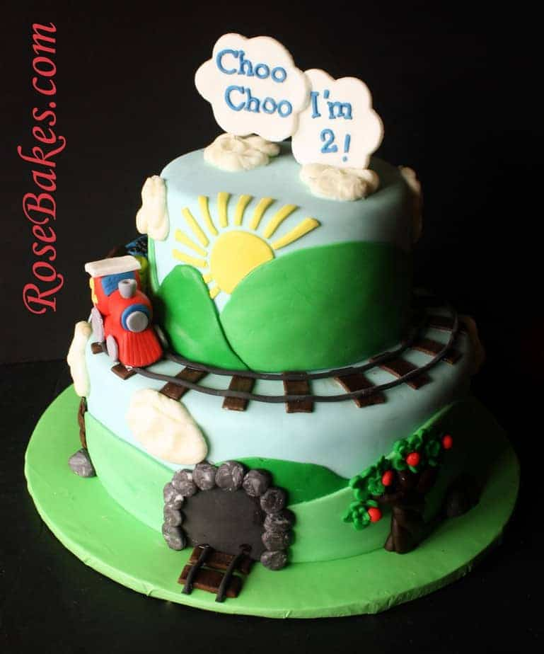 Choo Choo I M 2 Train Cake Two Two Train Themed Party