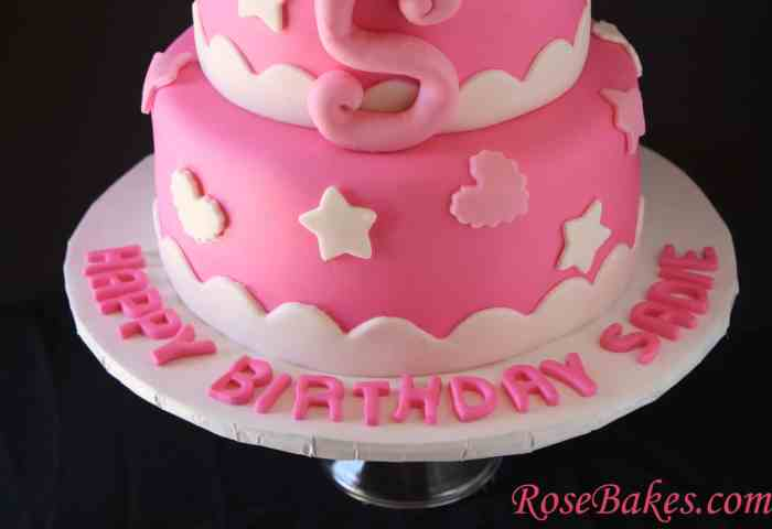 Hello Kitty Birthday Cake Bottom Name On Board Rose Bakes