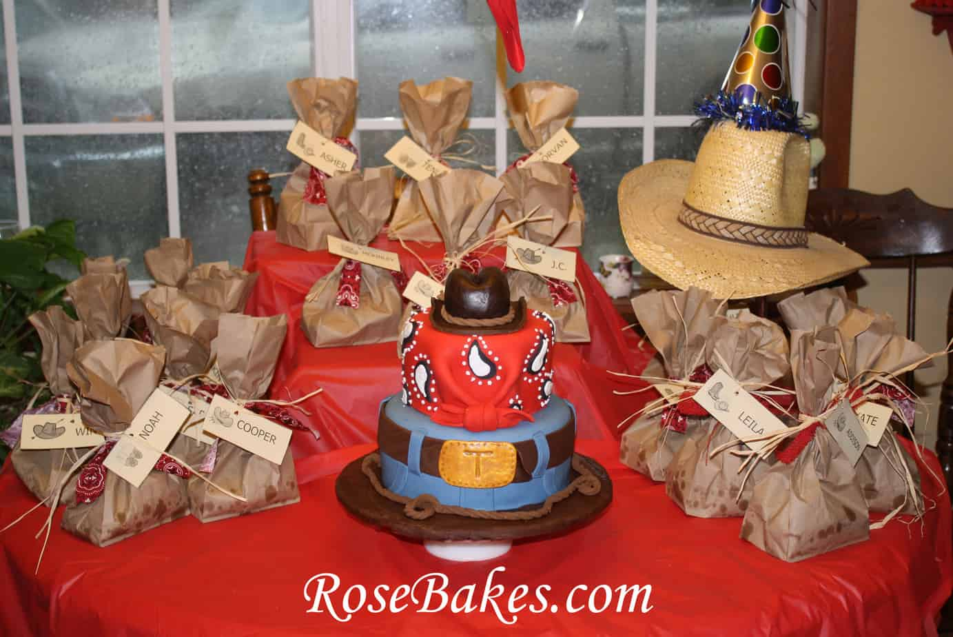 Tuckers Cowboy Cake On Display Rose Bakes