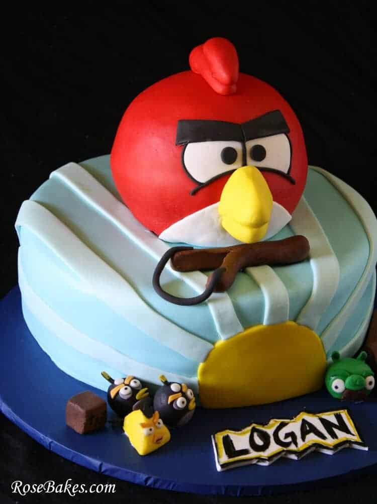3 D Angry Birds Birthday Cake