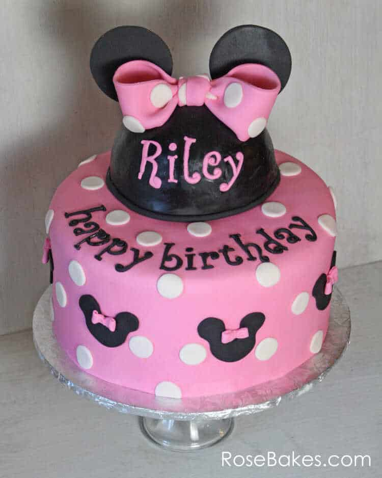 Pink Minnie Mouse Birthday Cake