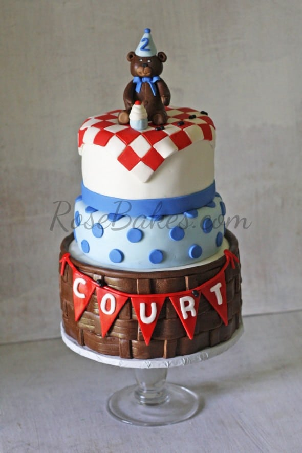 Teddy Bear Picnic Birthday Cake WM
