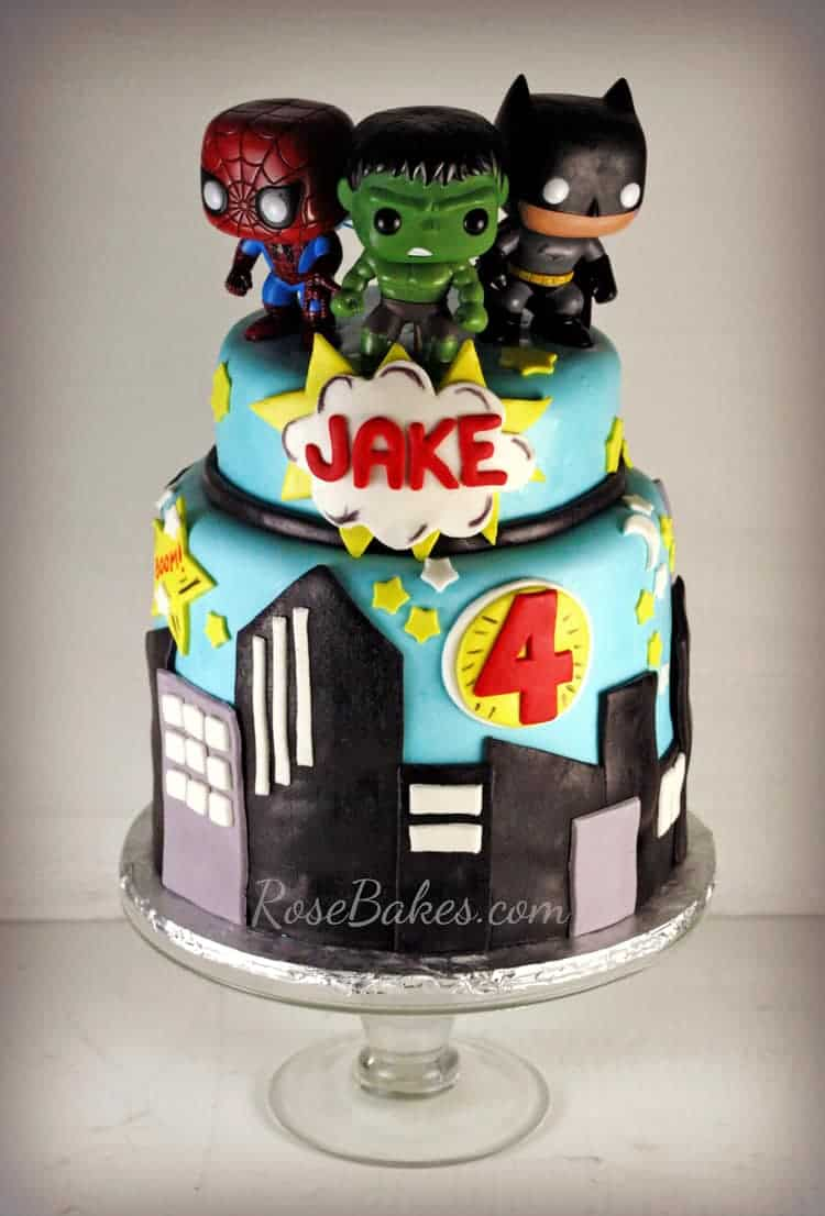 Super Heroes Cake Amp Cake Pops Rose Bakes