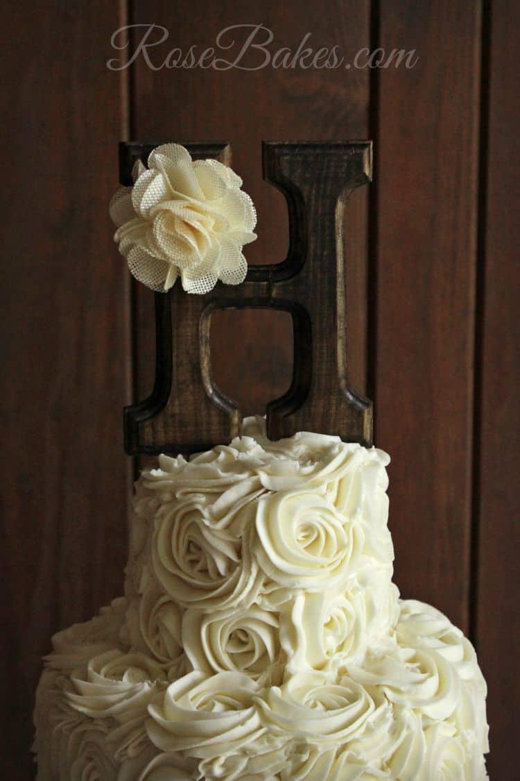 Rustic Buttercream Roses Wedding Cake Rose Bakes