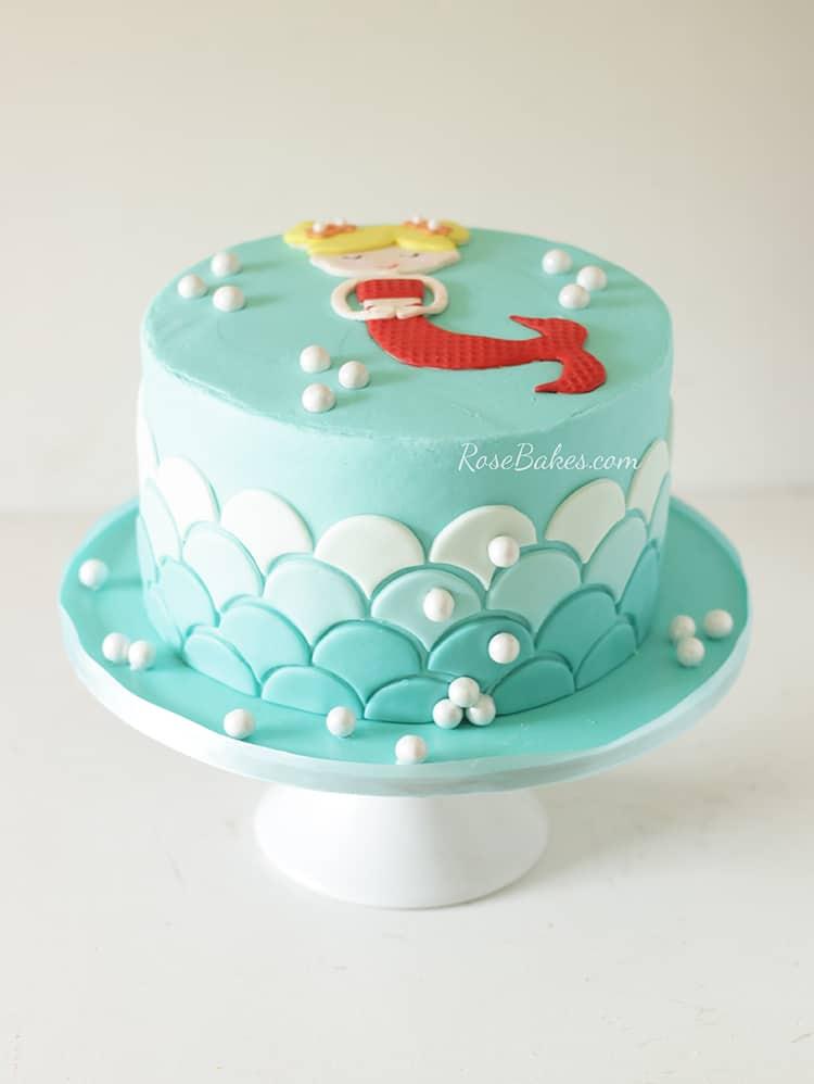 Bright Mermaid Birthday Cake