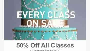 all craftsy cake decorating classes are on sale up to 50 off - Cake Decorating Class