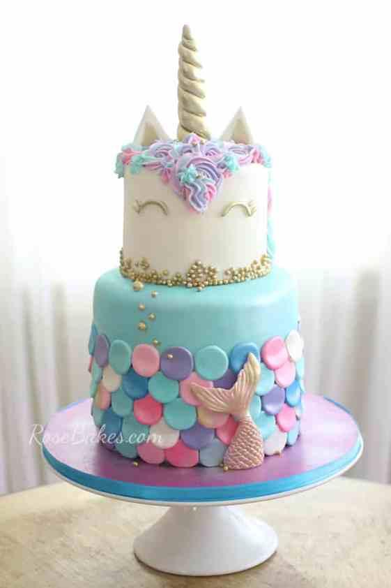 Mermaid Unicorn Cake