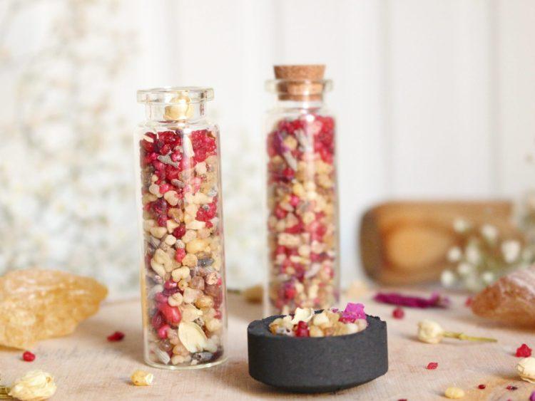 résines encens grain oliban rose