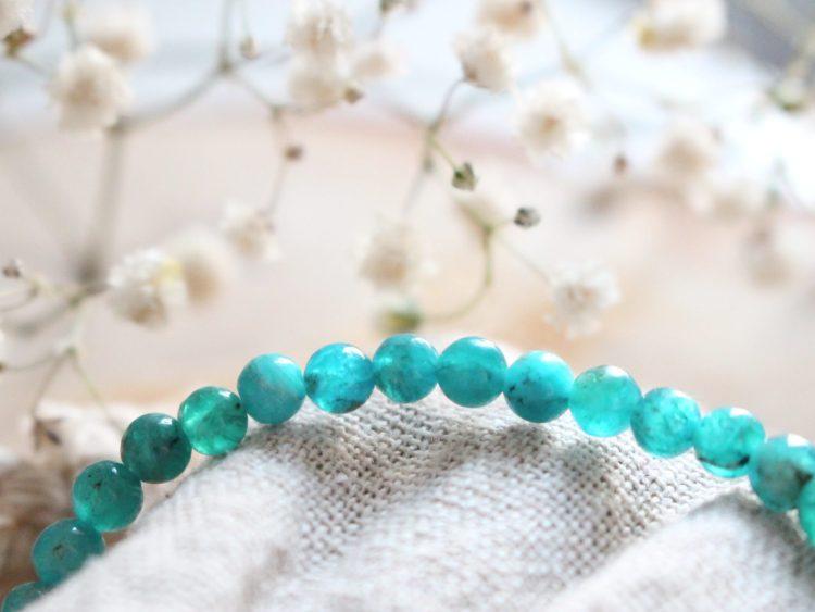 Bracelet en Apatite Bleu