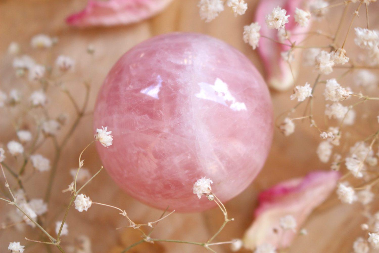 Sphère de Quartz Rose