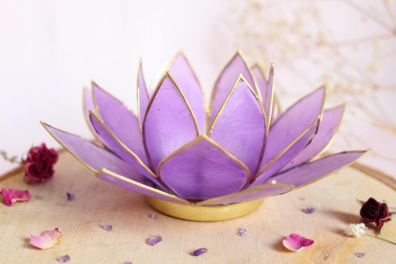 Photophore Fleur de Lotus violet