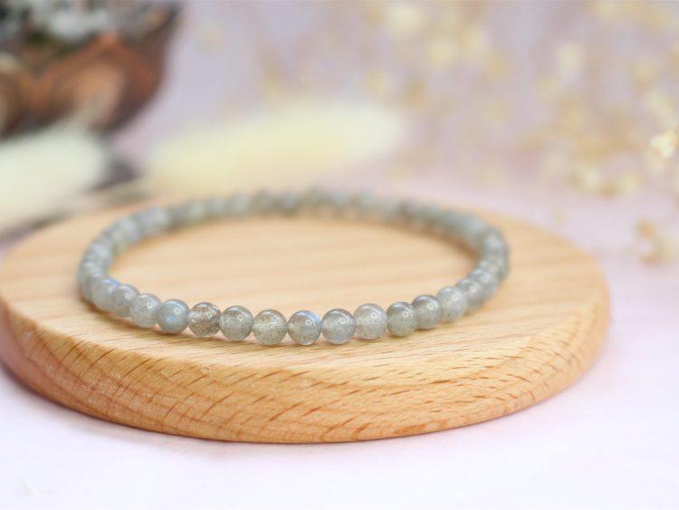 Bracelet en pierres naturelles de Labradorite