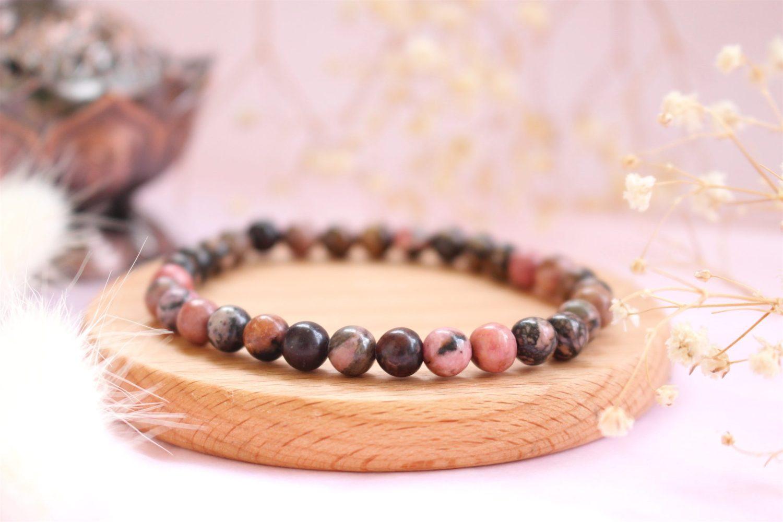 Bracelet Rhodonite pierre naturelle
