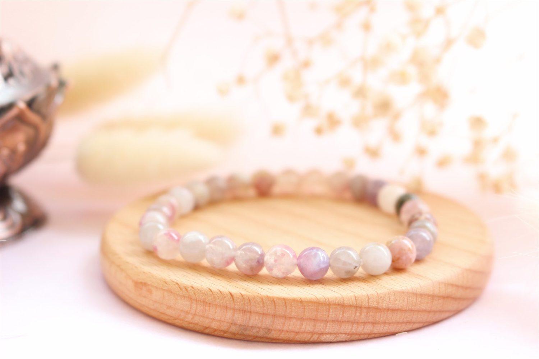 Bracelet en Tourmaline Multicolore pierre naturelles de 6mm