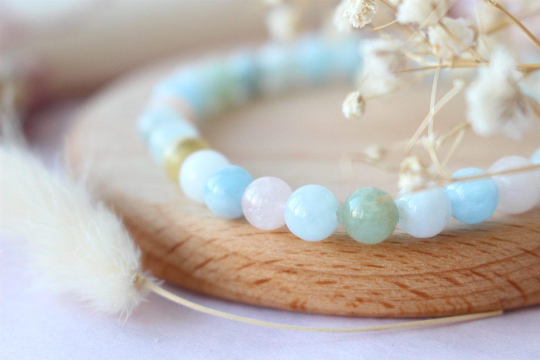 Bracelet de Lithothérapie Morganite - Béryl Rose
