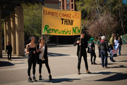 Climate change is real - think renewables now. April 26-2015 yyc