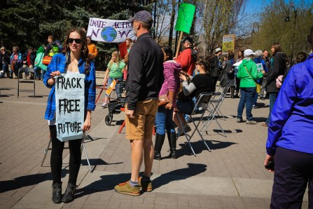 Frack free future - Aiyana Lauridsen photographed by Rory Redwood on April 26-2015