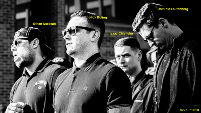 Ethan Nordean attends a Patriot Prayer hate rally