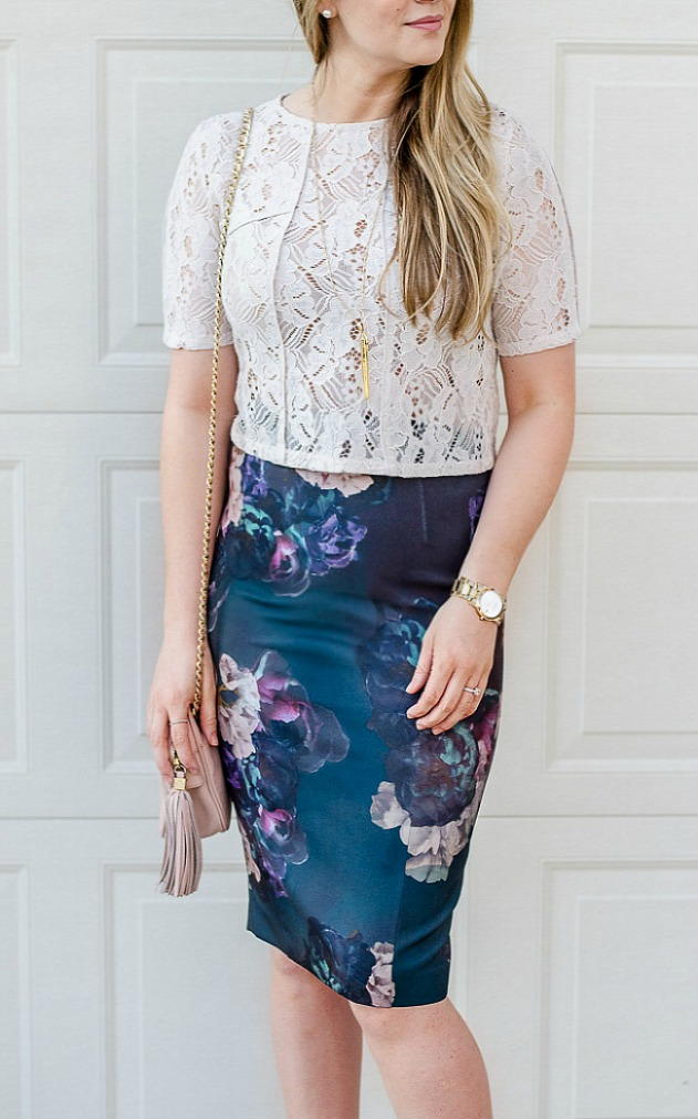 floral-pencil-skirt-lace-crop-top-rosecitstyleguide-toryburch-crossbody-canadianlifestyle-blog-canadianfashion