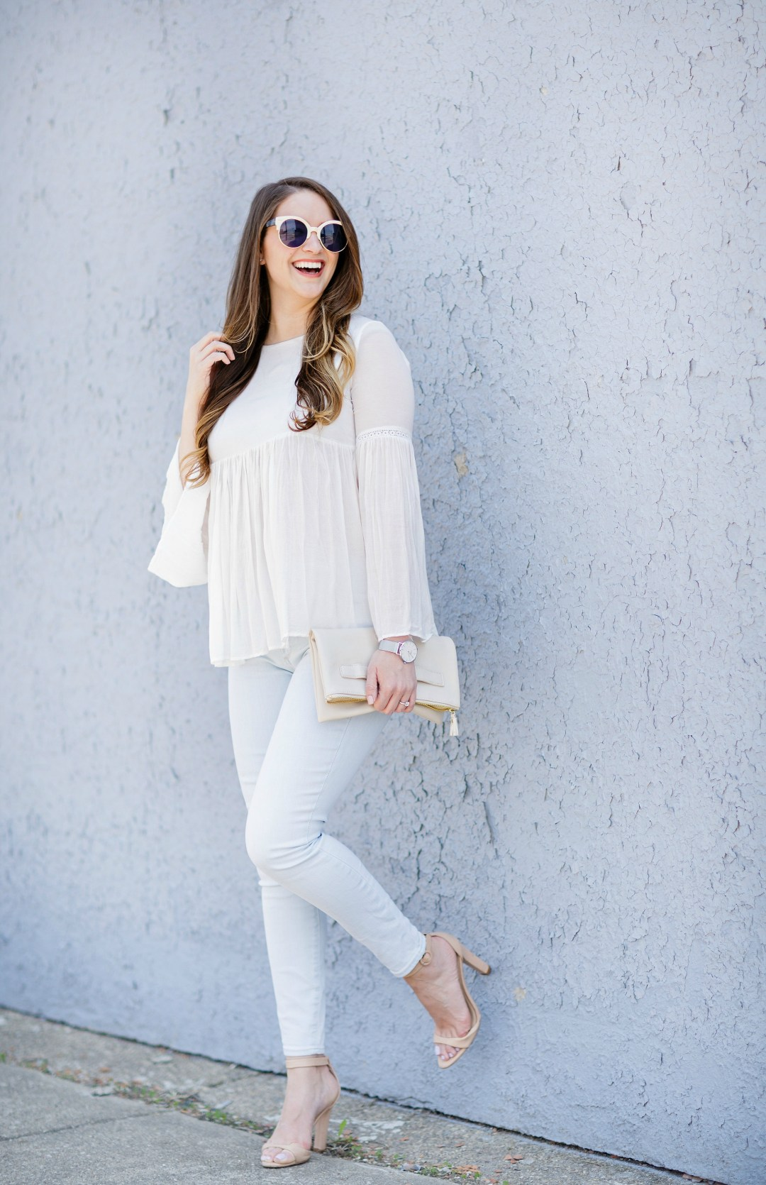 summer-whites-outfit-blouse-zara-gap-jeans-sunglasses-nude-sandals-rosecitystyleguide-canadian-blogger
