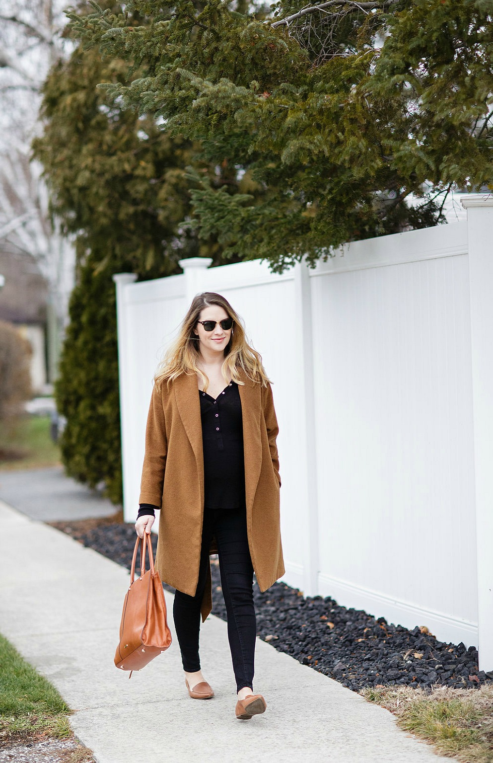 maternity-winter-style-camel-coat-camel-loafers-rebecca-minkoff-tote-ray-ban-clubmaster-black-pants-rosecitystyleguide-fashion-blog-canadian-18