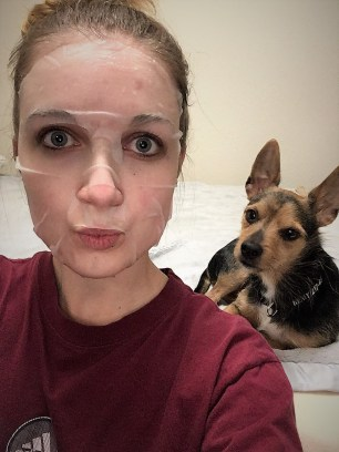 Selfies with my super enthusiastic pup!