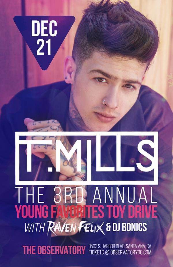 T. Mills With Raven Felix & DJ Bonics @ OC Observatory 12/21/14